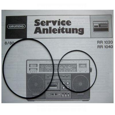 Grundig SET Antriebsriemen RR 1020 / 1040