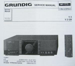 Service Manual - V 2 Fine Arts Verstärker