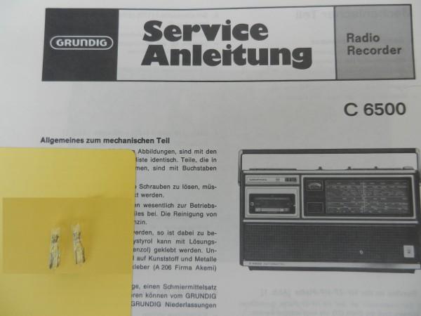 C 6500 C6500 Lämpchen SET für Radiorecorder GRUNDIG