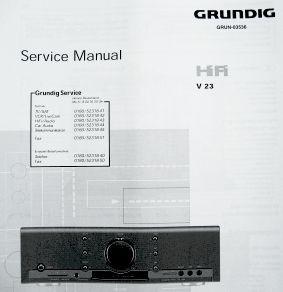 Service Manual - V 23 Verstärker