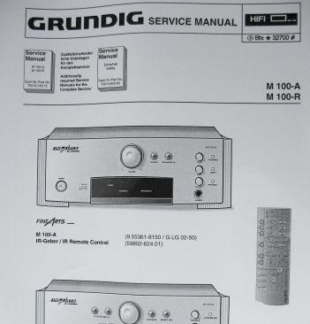 Service Manual - M 100-A Fine Arts Verstärker