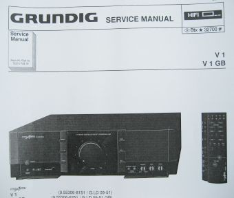 Service Manual - V 1 Fine Arts Verstärker