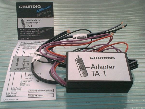 TA 1 CAR Audio - Telefon Adapter von GRUNDIG