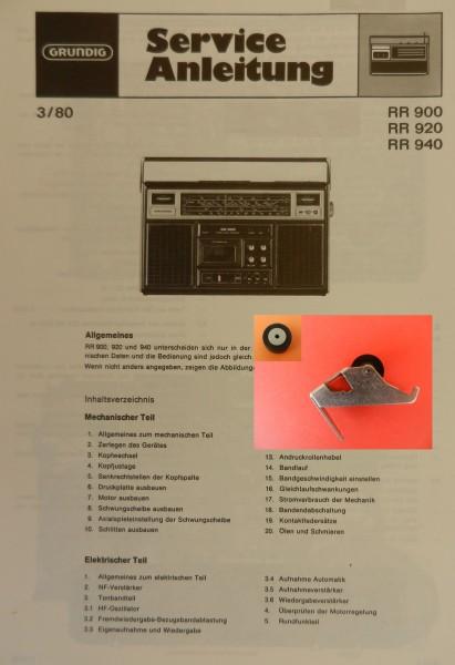 Tonrolle für RR900 RR 920 RR940 RR 900 RR 920 RR 940 Radiorecorder von GRUNDIG