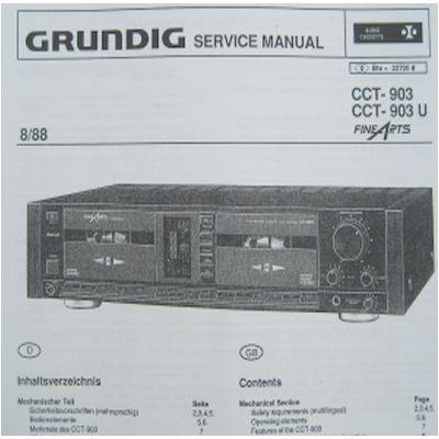 Service Manual - CCT 903 Fine Arts Cassettendeck