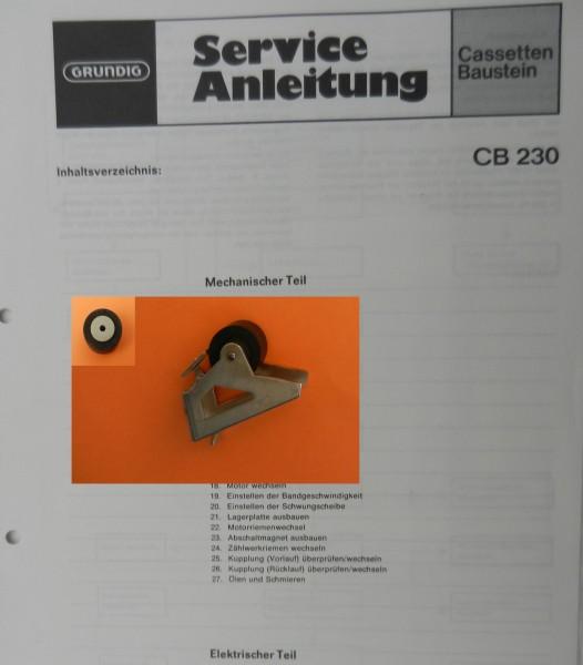 Tonrolle für CB230 CB230a TP Cassettendeck für Studio, RPC von GRUNDIG