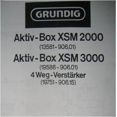 Schaltplan XSM 2000 / 3000 Aktiv Box