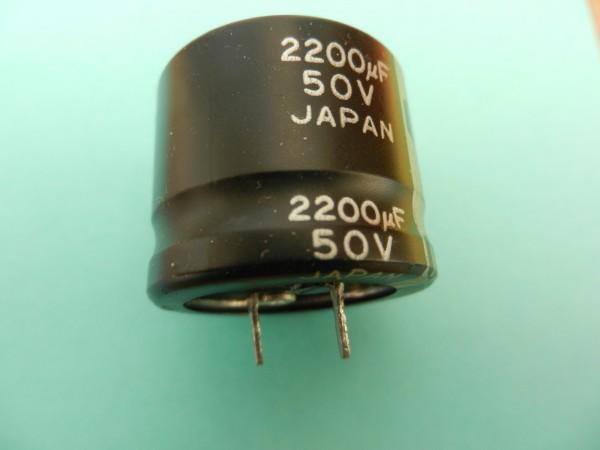 2200 uF 50V Elko für Grundig Hifi Cassetten Deck SCF6200 6100...