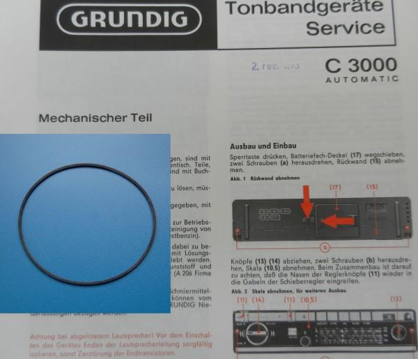 C3000 C 3000 Antriebsriemen GRUNDIG