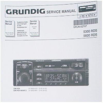 Service Manual - WKC 5300 / 5600 RDS Autoradio