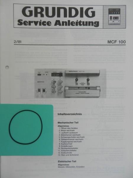 MCF 100 MCF100 Zählwerk Riemen GRUNDIG