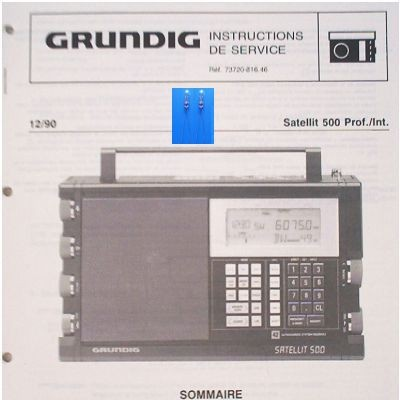 SATELLIT 500 Lämpchen SET GRUNDIG