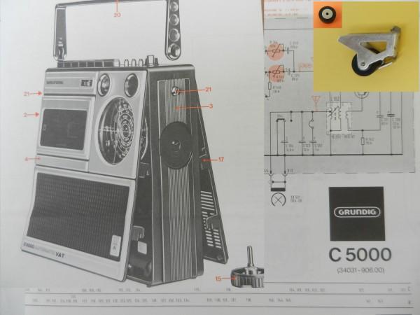 Tonrolle für C5000 C 5000 Automatik von GRUNDIG