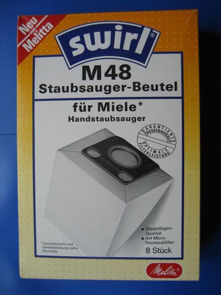 M 48 Staubsaugerbeutel für Miele Handstaubsauger 8 Beutel mit Micro Feinstaubfilter