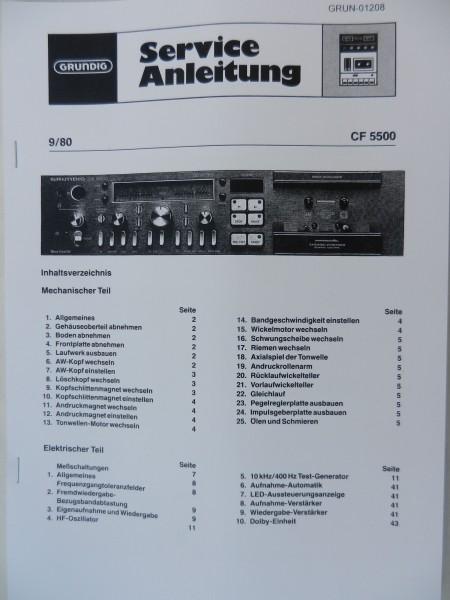 Service Manual - CF5500 Hifi Cassettendeck