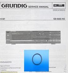CD 8300 Schubladenriemen GRUNDIG