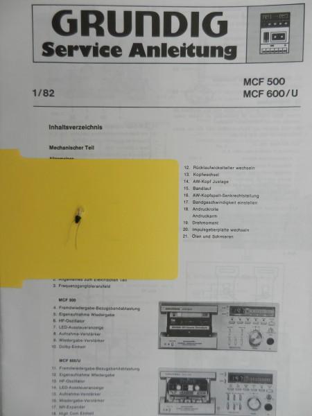 MCF 500 / MCF 600 GRUNDIG Impulsgeber Lämpchen