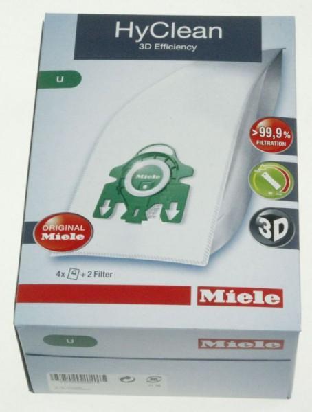 Staubsaugerbeutel für Miele Typ U , HyClean 3D 4 Beutel + 2 Filter
