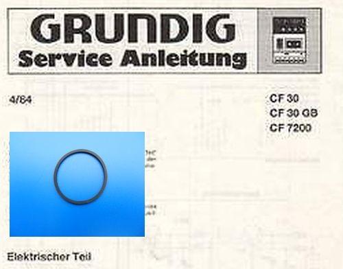 CF 7300 / CF 7200 GRUNDIG Schubladen Riemen