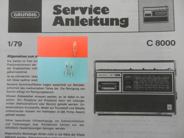 C 8800 Lämpchen SET für Radiorecorder GRUNDIG