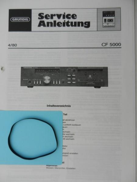 CF 5000 CF5000 Capstan Riemen GRUNDIG