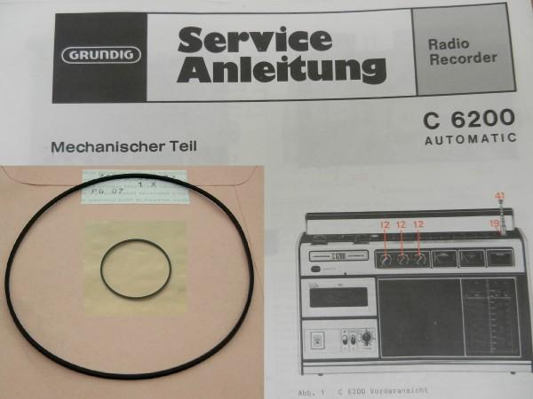 C 6000 C 6200 Capstan Riemen SET Radiorecorder GRUNDIG