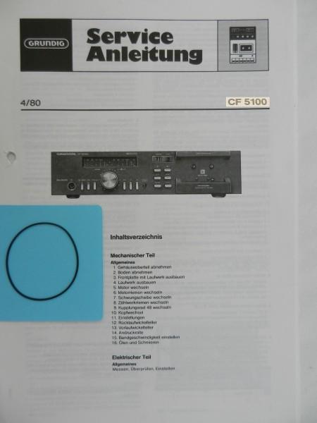 CF 5100 / CF5100 GRUNDIG Zählwerk Riemen