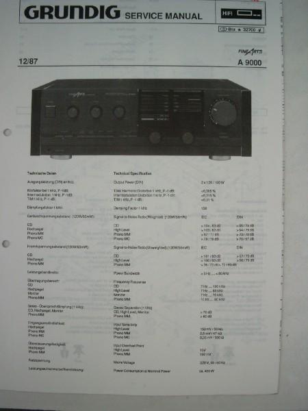Service Manual - A9000 Fine Arts Verstärker