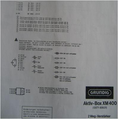 Schaltplan XM 400 2 Wege - Aktiv Box
