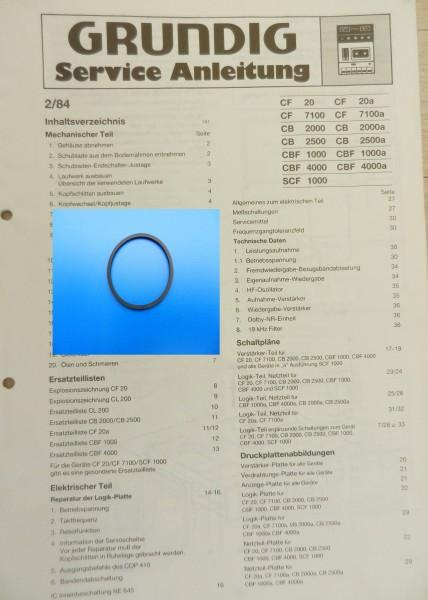 CF 7100 CF7100a GRUNDIG Schubladenriemen
