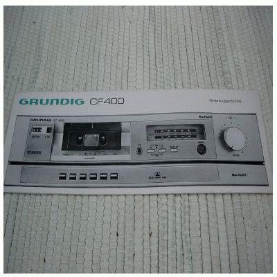 Bedienungsanleitung CF 400 Cassettendeck