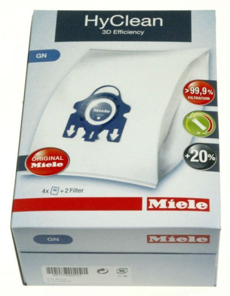 Staubsaugerbeutel für Miele Typ GN , HyClean 3D 4 Beutel + 2 Filter