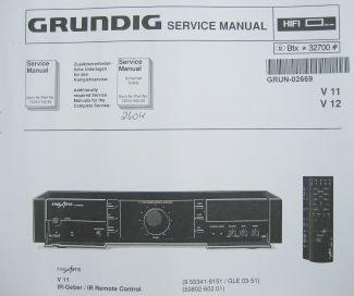Service Manual - V 11 / V 12 Hifi Verstärker