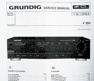 Service Manual - V 304 Verstärker