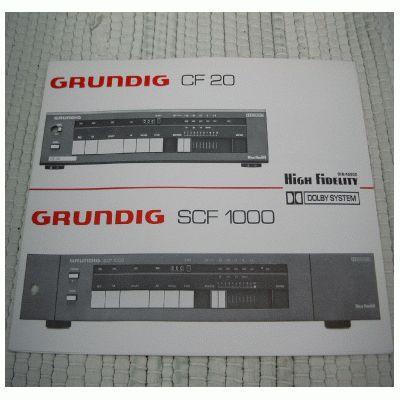 Bedienungsanleitung CF 20 / SCF 1000 Cassettendeck