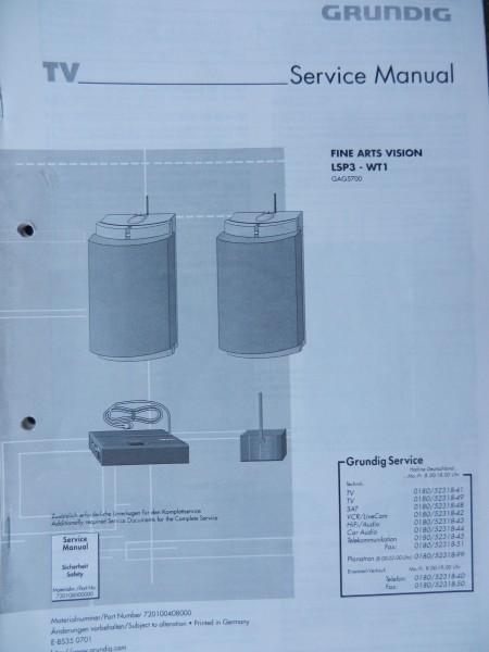 Service Manual LSP3 - WT1 Fine Arts Funklautsprecher Hifi