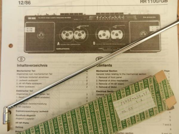 Teleskopantenne für Radiorecorder RR1100 RR1150 RKS1165 von GRUNDIG