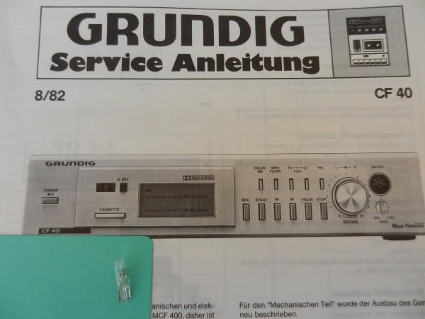 Lämpchen für Tape CF 40 GRUNDIG