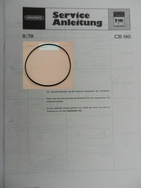 CB 190, CB 200, CB 210, CB 230, CB 230a Capstan Riemen GRUNDIG