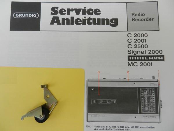 C2000 C2001 C2500 Tonrollenhebel von GRUNDIG für den Radiorecorder