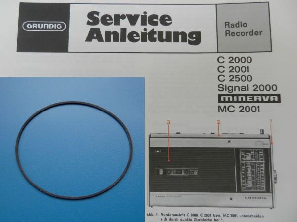 C2000 C2001 C2500 C2000 Signal Antriebsriemen GRUNDIG