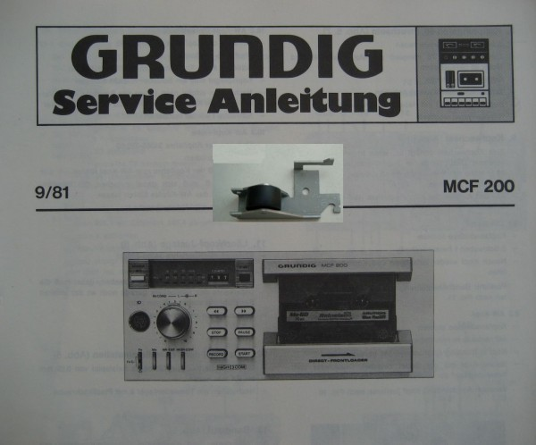 Tonrollenhebel für MCF 200 MCF200 GRUNDIG