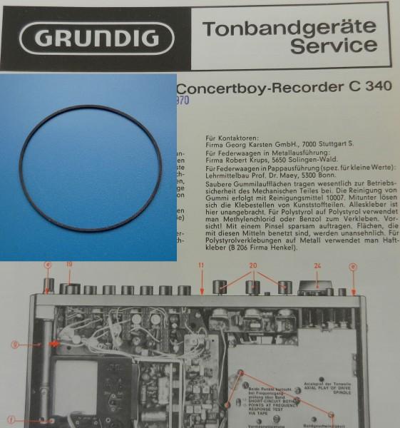 C340 C 340 Concertboy Recoder Antriebsriemen GRUNDIG