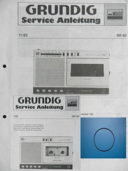 RR60 CR150 Zählwerk Riemen GRUNDIG
