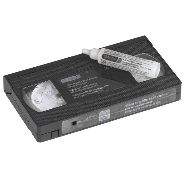 Reinigungscassette für VHS Videorecorder mit Flüssigkeit von VIVANCO