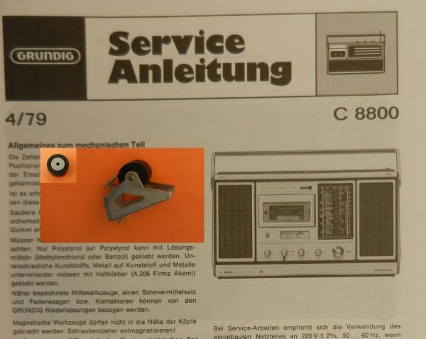 Tonrolle für C8800 C 8800 Automatik von GRUNDIG
