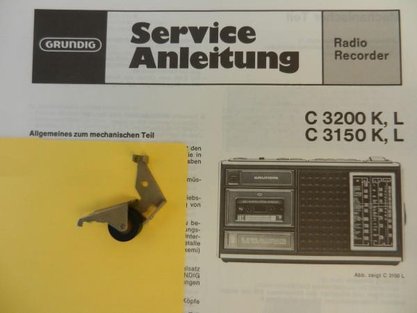 C3150 K L C3200 K L Tonrollenhebel von GRUNDIG für den Radiorecorder