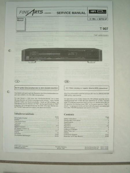 Service Manual - T 907 Hifi Fine Arts Tuner