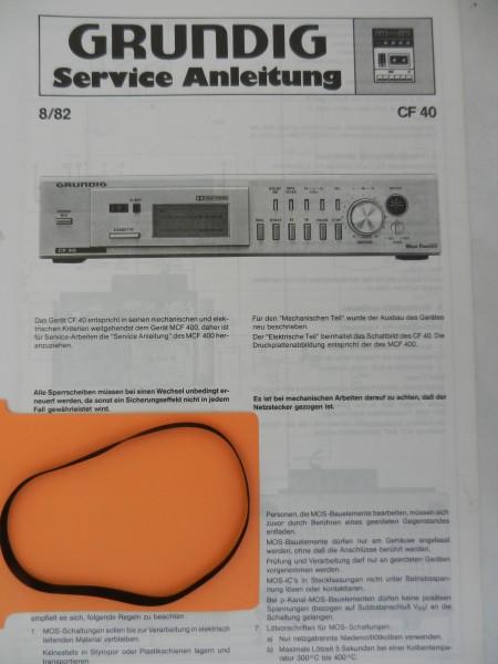 CF 40 CF40 Grundig Capstan Riemen