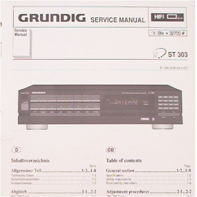 Service Manual - ST 303 Hifi Tuner Fine Arts